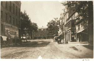Period photograph of Main Street Amherst MA